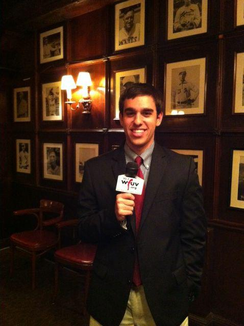 Hanging out at Gallagher's Steakhouse in the Big Apple