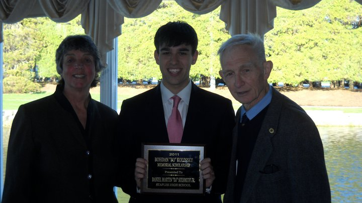 In 2011, DJ received the Bo Kolinsky Memorial Scholarship from the CT Sports Writers Alliance in honor of his outstanding sports journalism.
