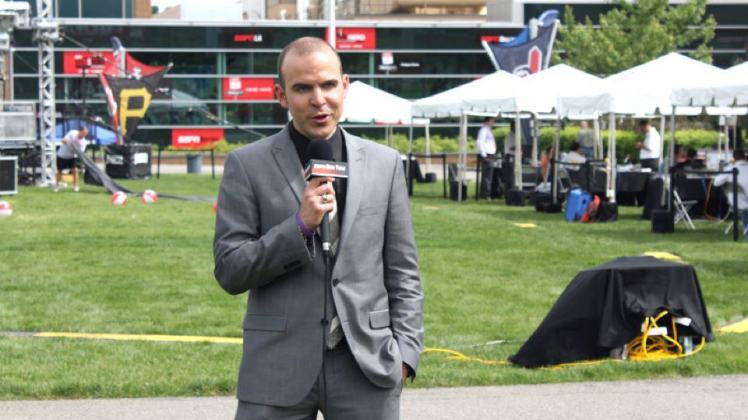 Ruocco doing his thing at ESPN's Headquarters in Connecticut